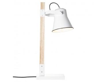 Tafellamp Plow, wit helder...