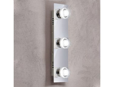 3-lichts LED-wandlamp Gilian