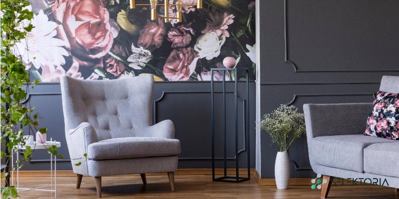 bloemen motief interieur
